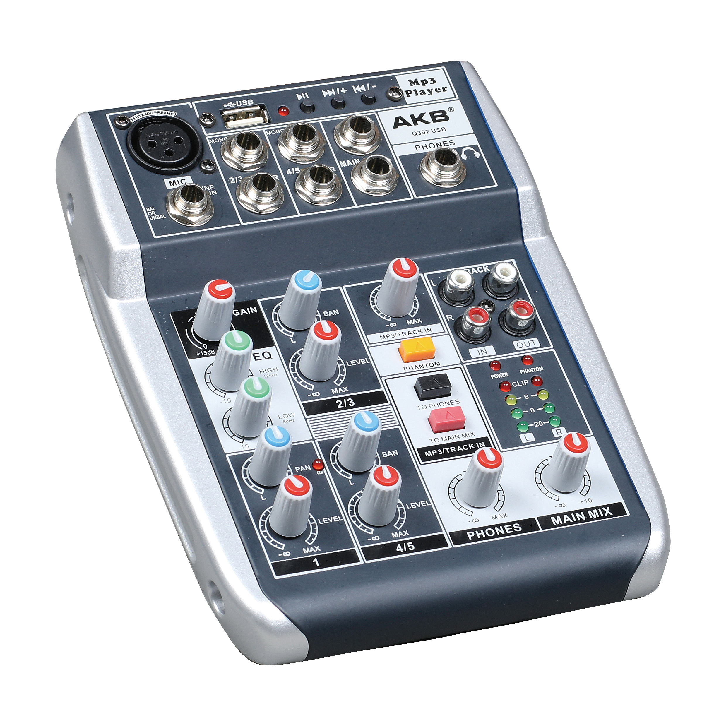 Q302-USB small mixer high quality
